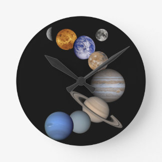 The solar system range our planets round clock