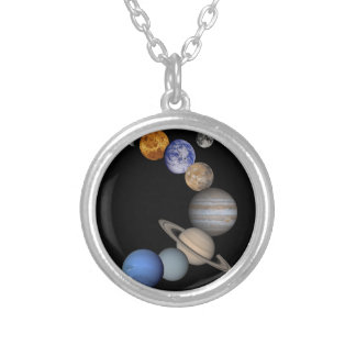 The solar system range our planets silver plated necklace