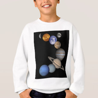 The solar system range our planets sweatshirt