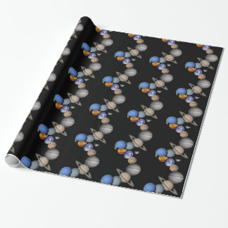 The solar system range our planets wrapping paper
