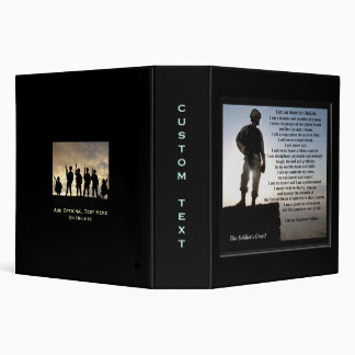 The Soldiers Creed Military Vinyl Binder