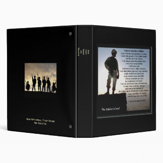 The Soldier's Creed Military Vinyl Binder