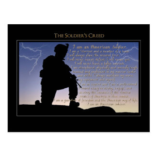 The Soldier's Creed Postcard