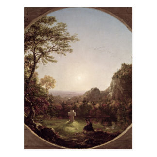 The Solitary Cross, 1845 Postcard