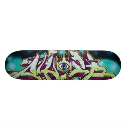 The solitary eye - custom skate board