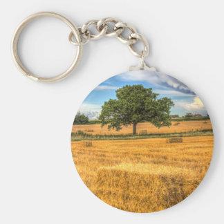The solitary farm tree keychains
