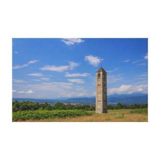 the solitary medieval bell tower  WRAPPED CANVAS