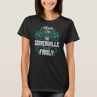 The SOMERVILLE Family. Gift Birthday T-Shirt