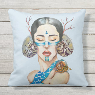 The song of the Sirens Outdoor Pillow