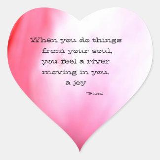 The Soul- heart sticker
