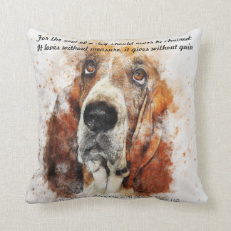The Soul of a Dog Throw Pillow