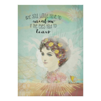 The soul would have no rainbow, vintage woman poster
