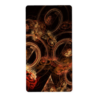 The Sound of Music Abstract Art Fractal Shipping Label