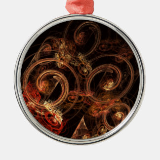 The Sound of Music Abstract Art Round Metal Ornament