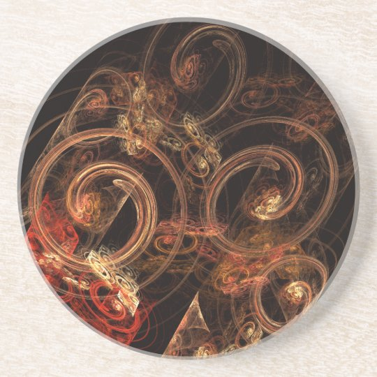 The Sound of Music Abstract Art Sandstone Coaster