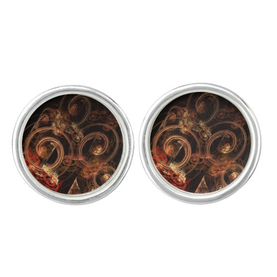 The Sound of Music Abstract Art Silver Plated Cufflinks