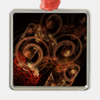 The Sound of Music Abstract Art Square Metal Ornament