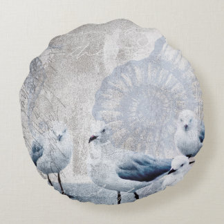 The sound of the ocean round pillow