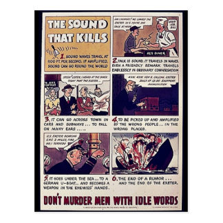 The Sound That Kills, Don't Murder Men With Idle W Postcard