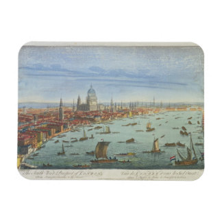 The South West Prospect of London, from Somerset G Rectangular Photo Magnet