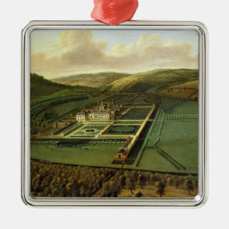 The Southeast Prospect of Hampton Court, Herefords Silver-Colored Square Ornament