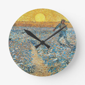 The Sower by the Dutch painter Vincent van Gogh Round Clock
