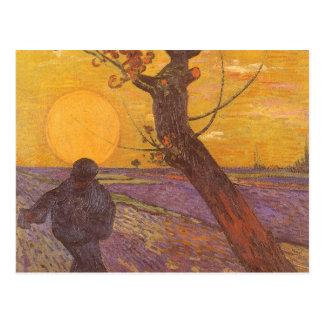 The Sower, Vincent van Gogh, Vintage Impressionism Postcard