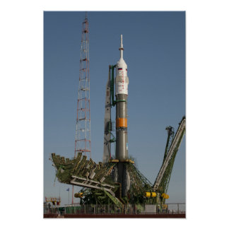 The Soyuz rocket shortly after arrival Poster
