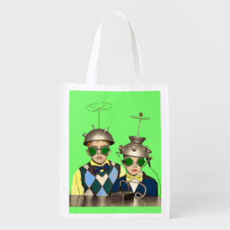 the Space Cadet Brothers print Reusable Grocery Bag