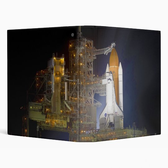 The Space Shuttle Discovery at Launch Pad 39A 3 Ring Binder