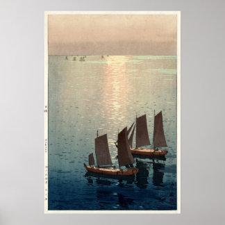 The Sparkling Sea by Hiroshi Yoshida Poster