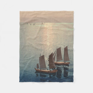 The Sparkling Sea. Fleece Blanket