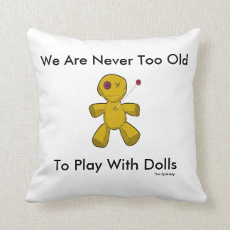 The Spellery White Voodoo Doll Pillow