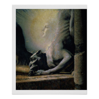 The Sphinx and the Chimera, 1906 (oil on canvas) Poster