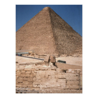 The Sphinx and the Great Pyramid at Giza Poster