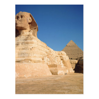 The Sphinx and The Pyramid of Khafre, Giza Postcard