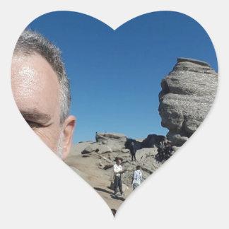 The Sphinx, Bucegi Mountains, Romania (design #2) Heart Sticker