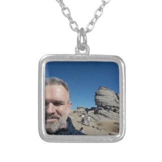 The Sphinx, Bucegi Mountains, Romania (design #2) Silver Plated Necklace