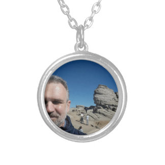The Sphinx, Bucegi Mountains, Romania (design #2) Silver Plated Necklace