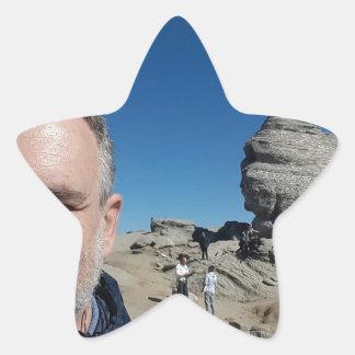The Sphinx, Bucegi Mountains, Romania (design #2) Star Sticker