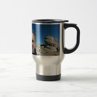 The Sphinx, Bucegi Mountains, Romania (design #2) Travel Mug
