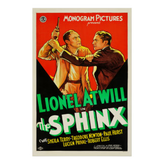 The Sphinx - Vintage 1933 movie poster