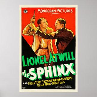 The Sphinx - Vintage 1933 movie poster
