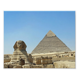 The Sphinx with Pyramids Photo Print