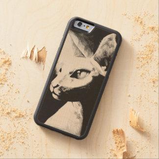 The Sphynx Cat Feline Art iPhone 6 Wood Case