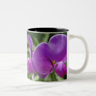 The Spider and the Sweet Pea Two-Tone Coffee Mug