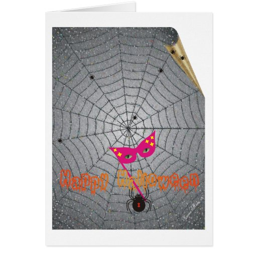 The Spider - Halloween - Edible Spider Recipe Greeting Card