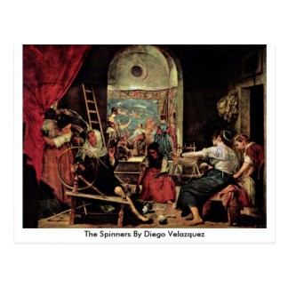 The Spinners By Diego Velazquez Postcard