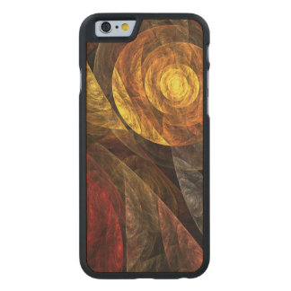 The Spiral of Life Abstract Art Carved® Maple iPhone 6 Slim Case