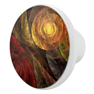 The Spiral of Life Abstract Art Ceramic Knob